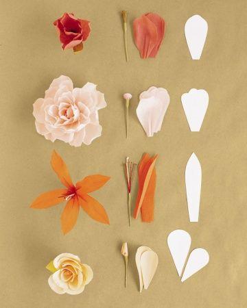How to make paper flowers martha stewart crafts pinterest el how to make paper flowers martha stewart mightylinksfo