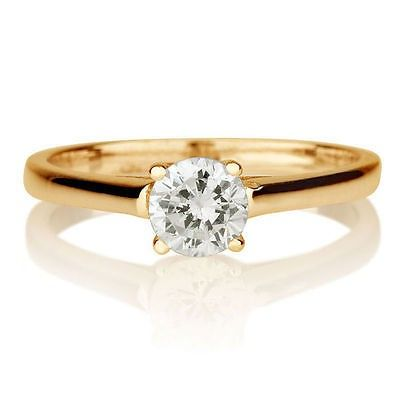 0.50CT Cubic Zirconia Diamonds Mens Fahion Ring in 14k Two-Tone Gold Plated Over Silver