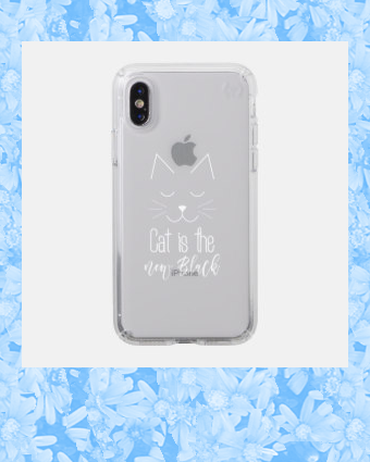 Cat is the New Black Quote Cute Black White Text Speck iPhone Case | Zazzle.com