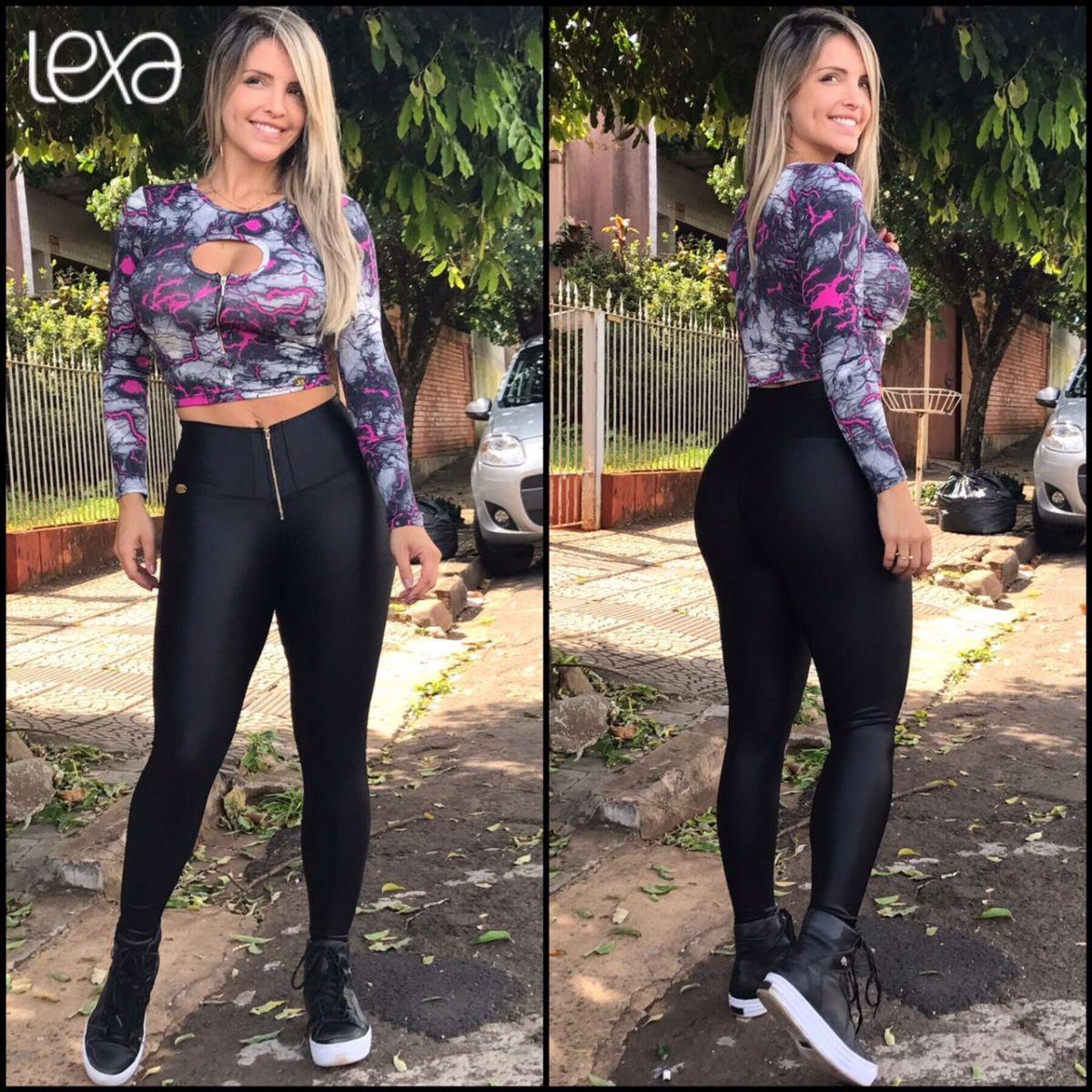 bebeae02d Blusa Ziper ML Raio na Lexafitwear. | Top/ Cropped em 2019 | Roupas ...