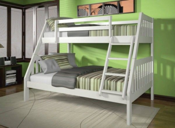 Acme Furniture Ryo Wood Twin Full Bunk Bed in White WHB