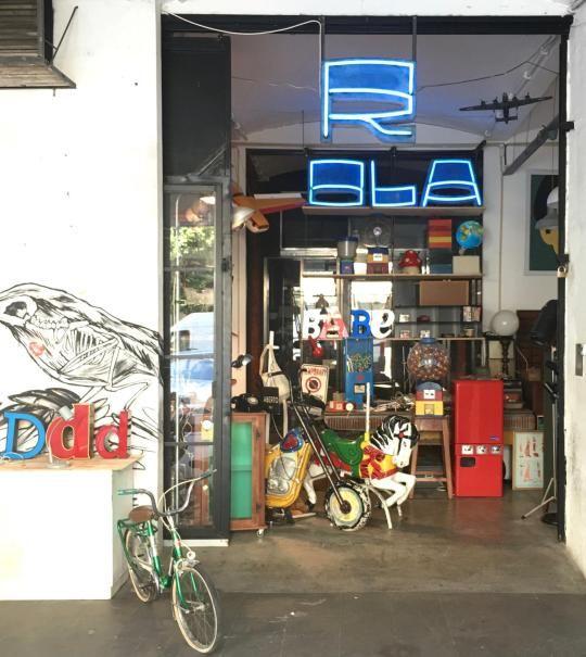 Hier finden sich kreative Shops, Künstler und Gastronomie - mitten im Niemandsland