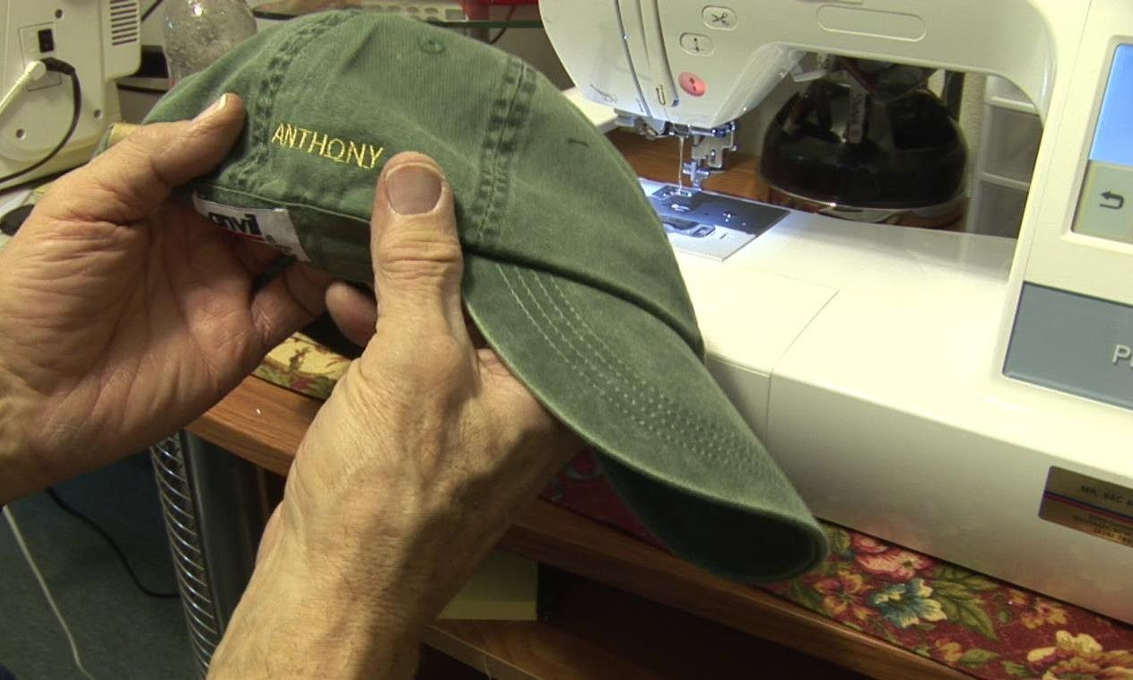 Hat Embroidery on side with a Brother PE770 (With images