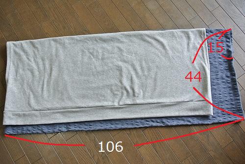 babbc18917f9a  作り方2 まっすぐ縫うだけのドルマンカーディガン