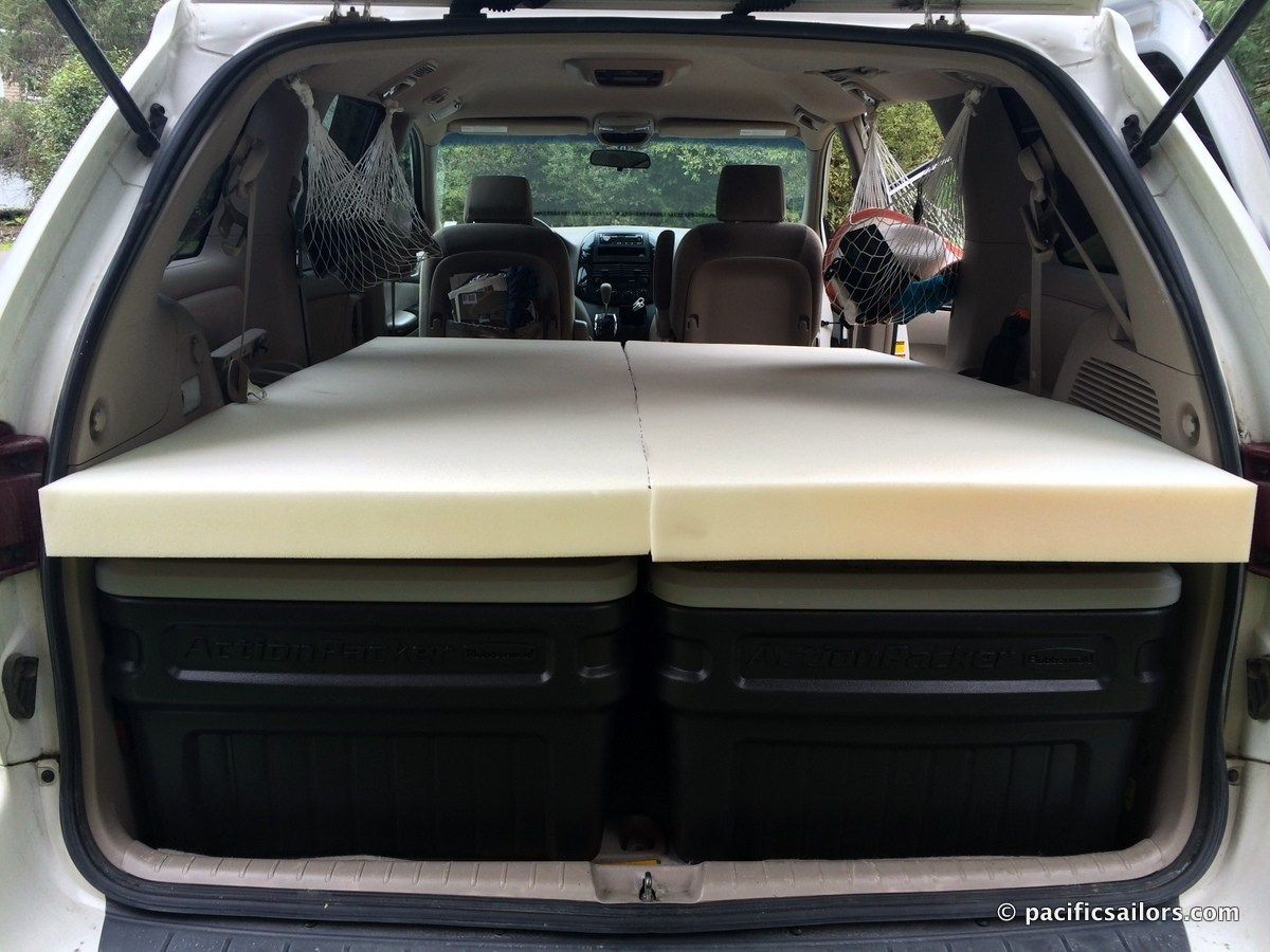 Easy No Construction Minivan Camping Bed If You Need To Carry A Lot