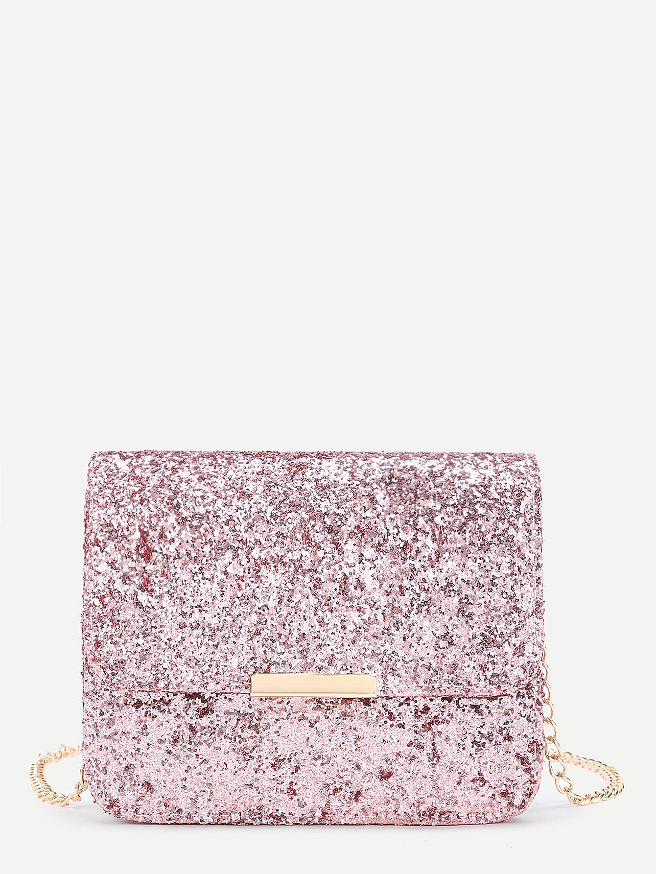 8975780e23d59 Shop Metal Detail Sequin Flap Bag With Chain online. SheIn offers Metal  Detail Sequin Flap Bag With Chain & more to fit your fashionable needs.