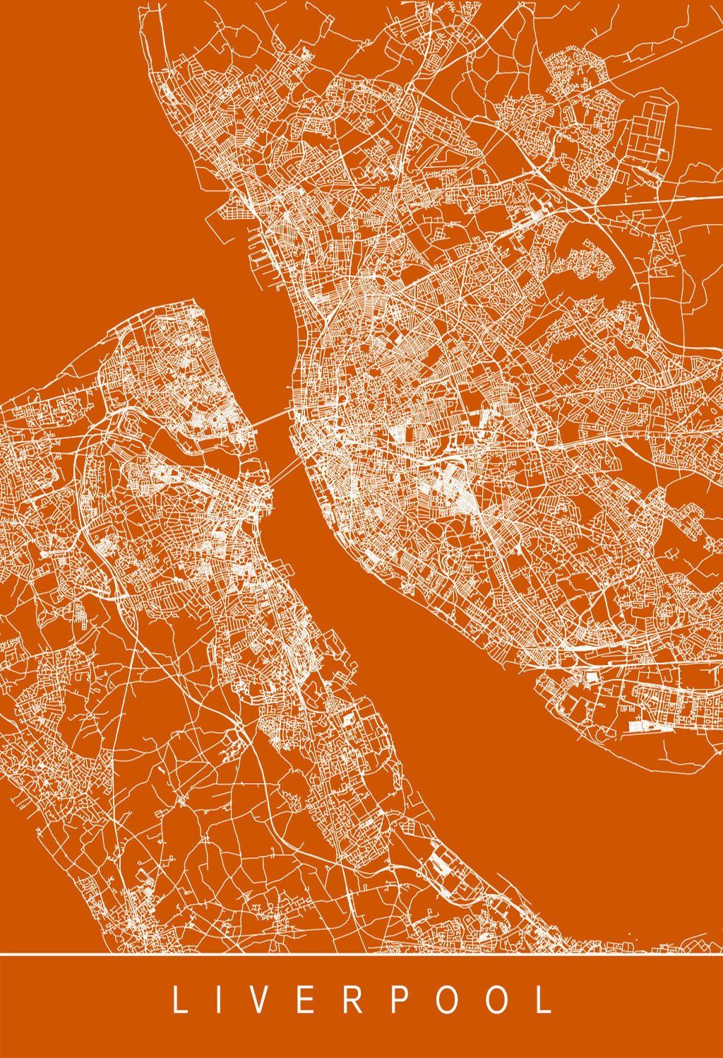 Karte / Map ~ Liverpool, England | UK: England - Landesteil in ...