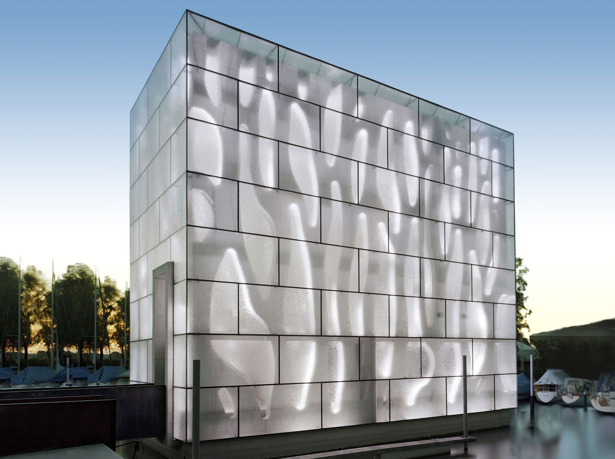 Curtain Wall Glass Panel Facades Building Opaque Ice