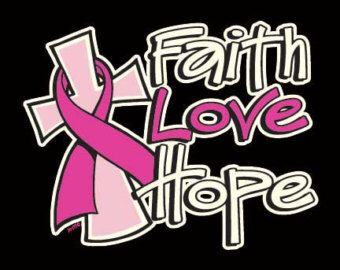 Breast Cancer Awareness Crewneck Sweatshirt Hope Faith Love