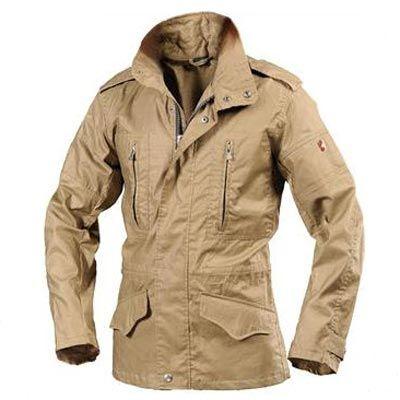 Mens Wellensteyn Montgomery Coat Jacket Cotton Blend Brown