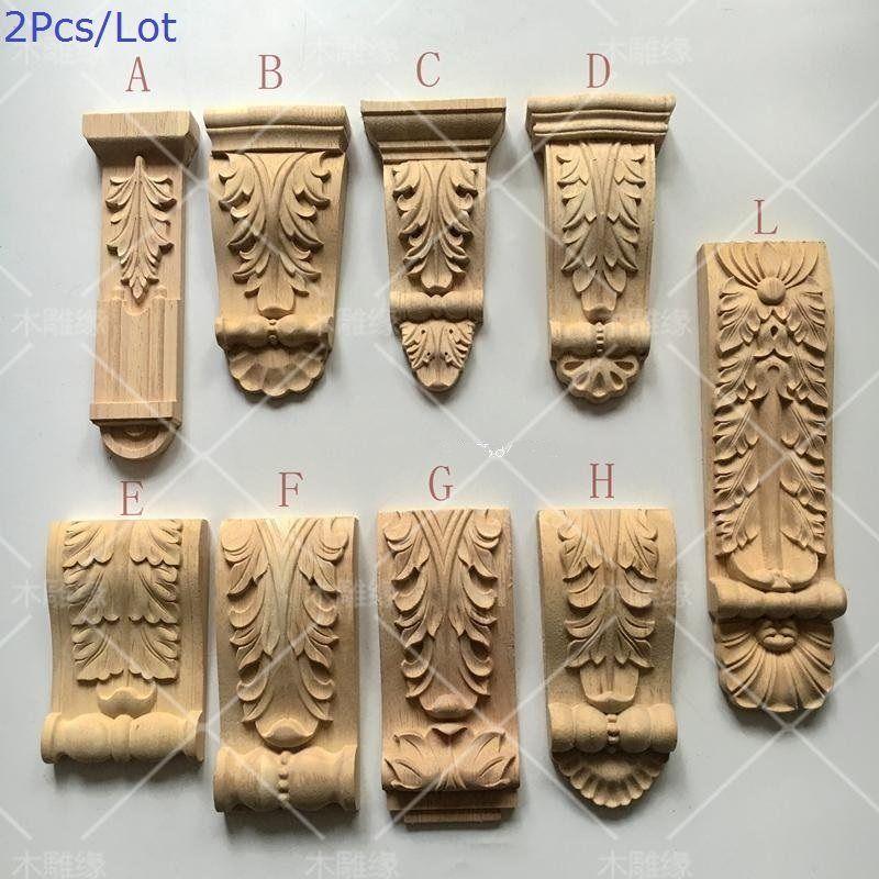 2 Teile Los Preminum Europaischen Gummi Holz Hand Geschnitzten Konsolen Holz Konsole Konsole Holz Schnitzen Ornamente