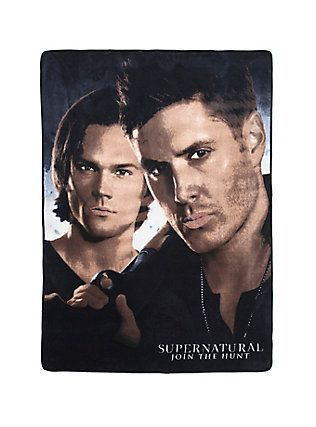 Supernatural Winchester Brothers Plush Throw,