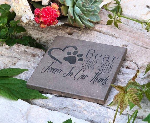 pet memorial stone personalized