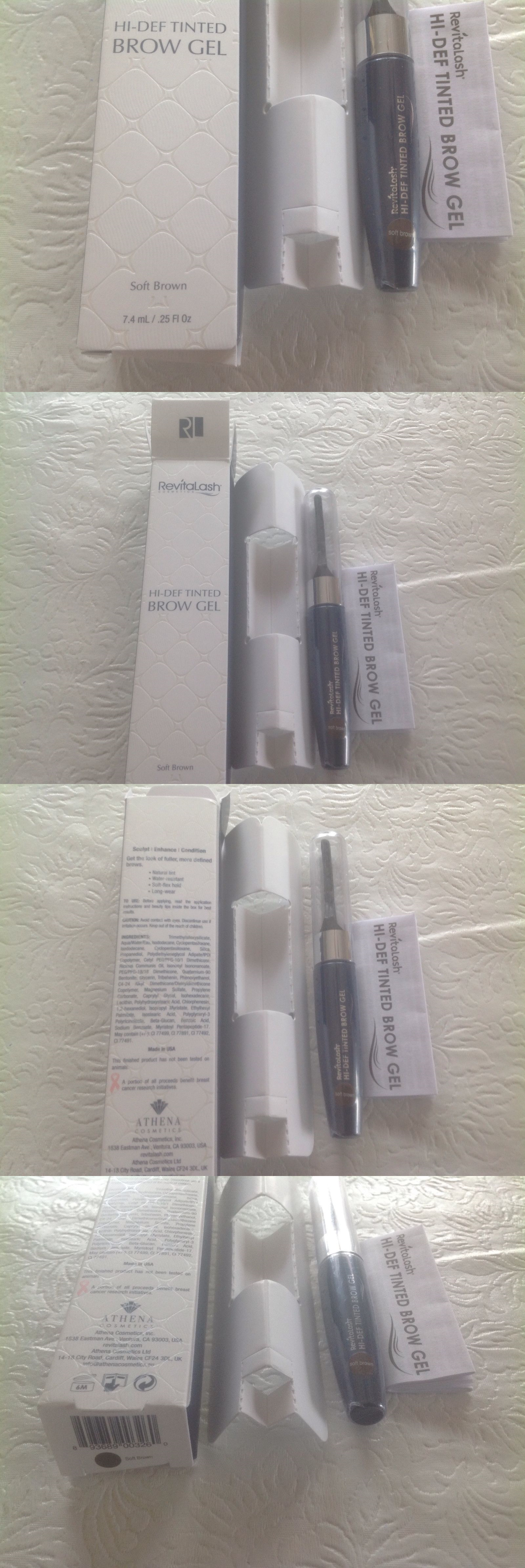 Eyebrow Liner And Definition 2 X New Sealed Revitalash Soft Brown