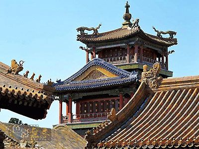 external features of ancient chinese architecture- animal figures