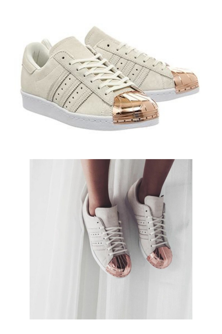 adidas superstar rose gold offw white