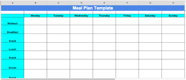 cize nutrition planning tips and meal plan template cize