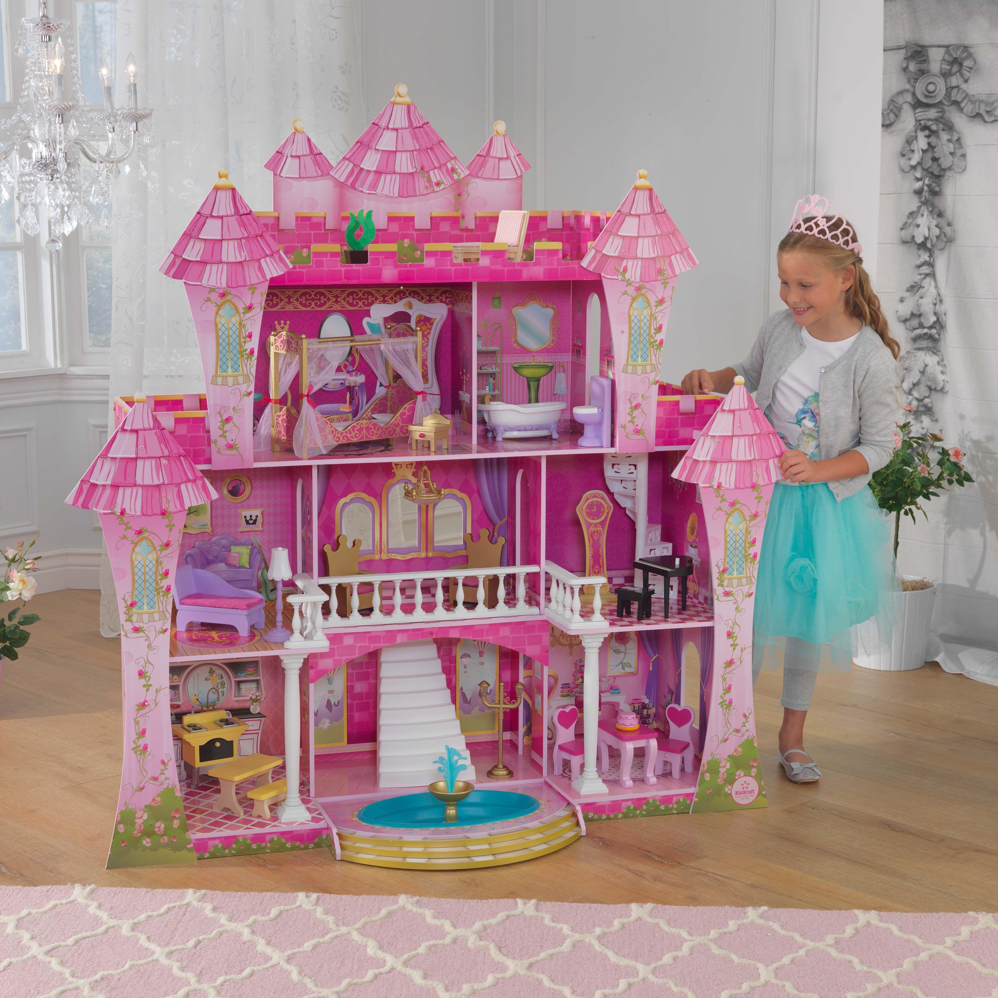 Kidkraft Far Far Away Dollhouse Doll House Barbie Kitchen