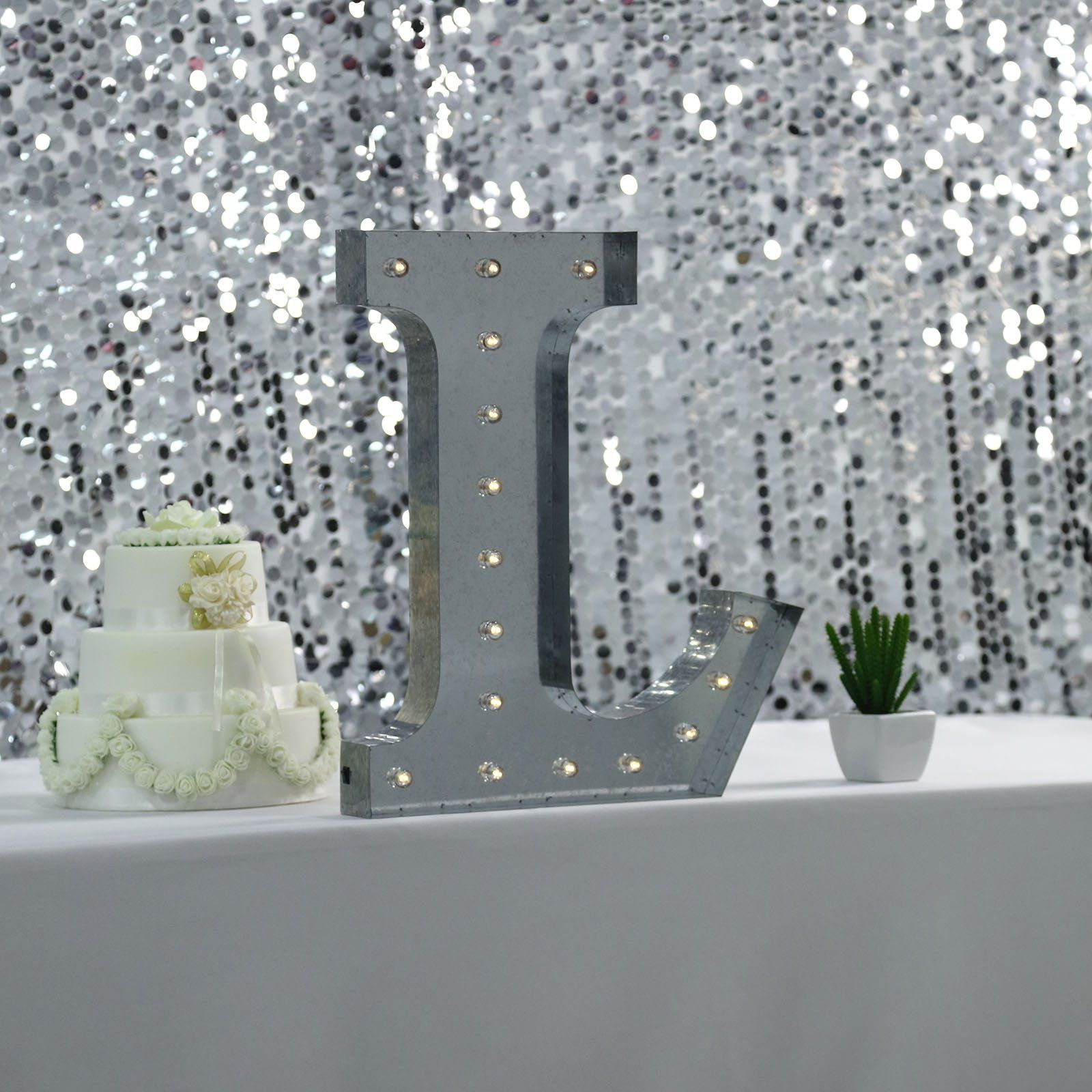 20 Vintage Metal Marquee Letter Lights Cordless With 16 Warm White Led L In 2020 Light Decorations Light Letters Marquee Letters