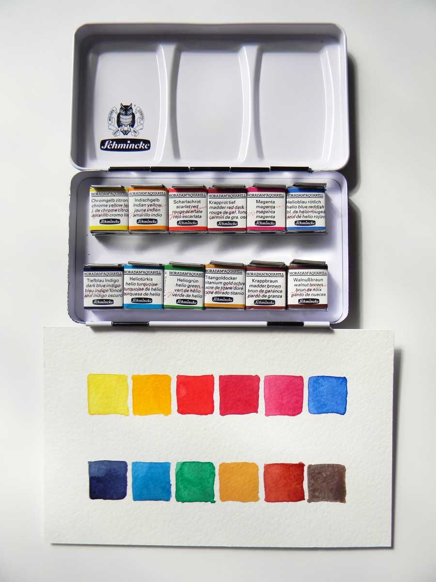 Schmincke Horadam Aquarell Watercolor Pan Sets Watercolor Pans