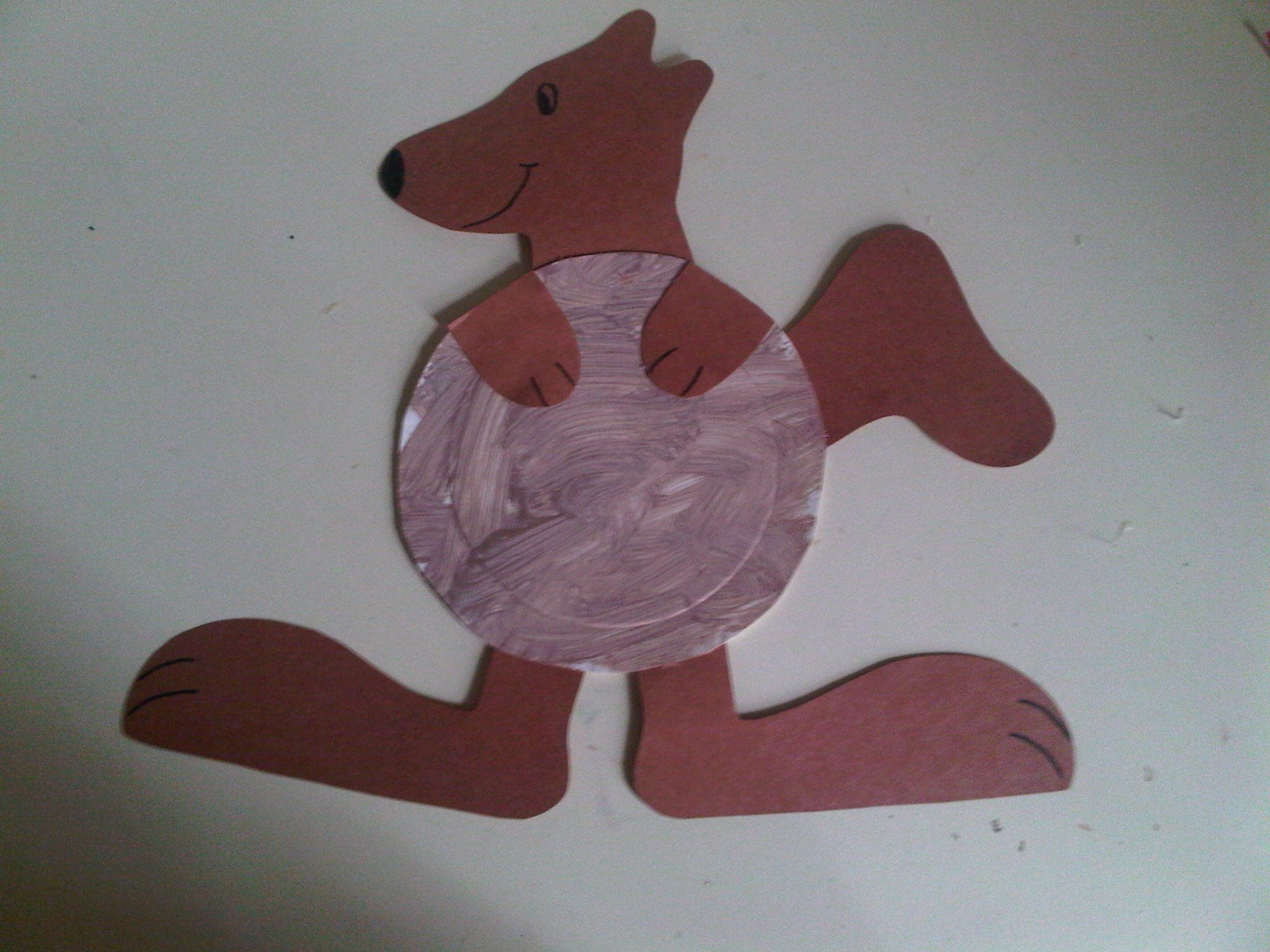 Ellie S Art Project Paper Plate Kangaroo