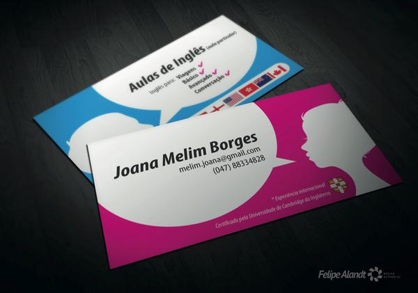English Teacher Business Card On Behance Teacher Business Cards Modern Business Cards Gifted Teaching