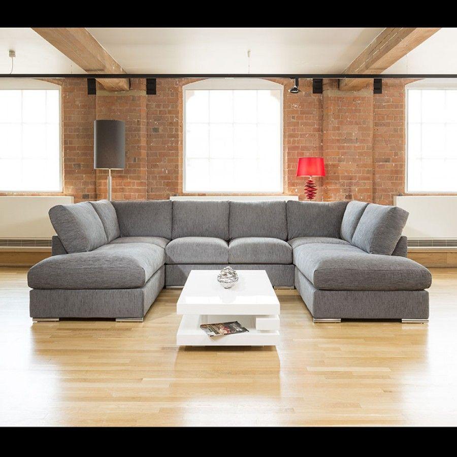 Faye Corner Sofa Harvey Norman: Quatropi Large Sofa Set Settee Corner Group U Shape Grey 3
