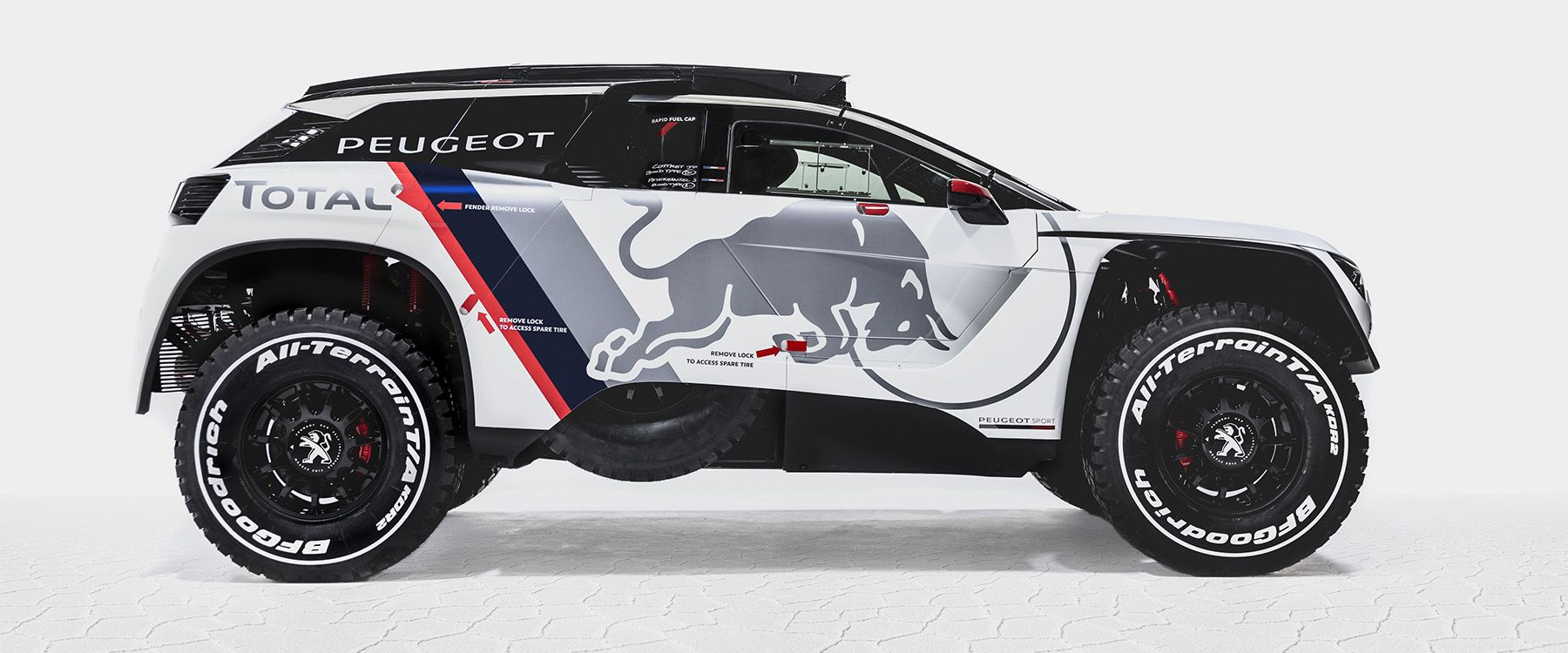the 3008 dkr remains loyal to peugeot's two-wheel drive philosophy