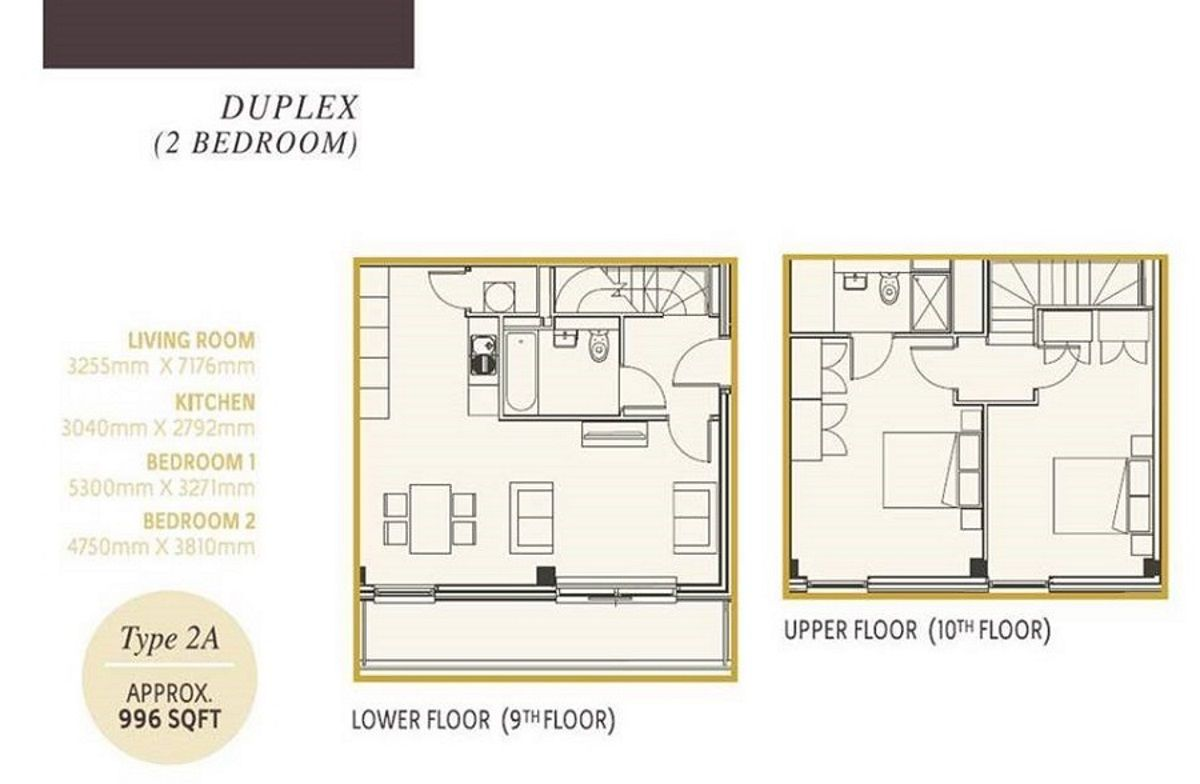 1 Bedroom Duplex House Plans | One Regent Apartments ...
