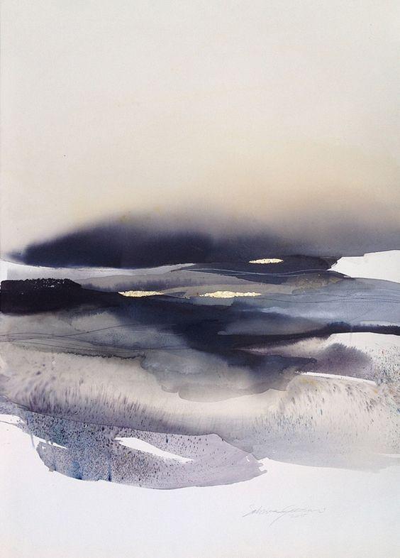 Zeichnen Aquarell Zeichnung Meer Schone Kunste Abstrakte