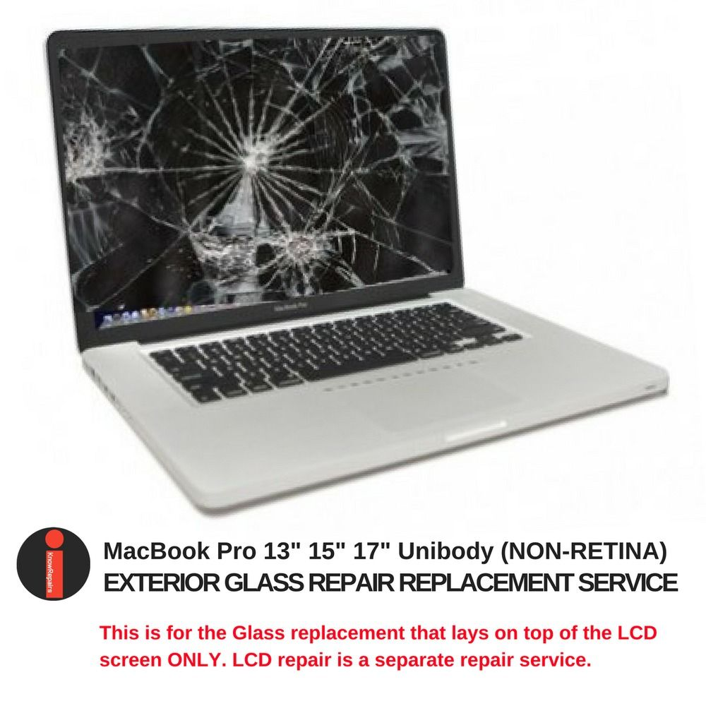 """MacBook Pro Front Glass Replacement Service 13"""" 15"""" 17"""