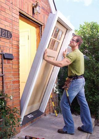 Comment poser une porte d entr e plans portes r novation maison et diy maison - Poser une porte d entree en renovation ...