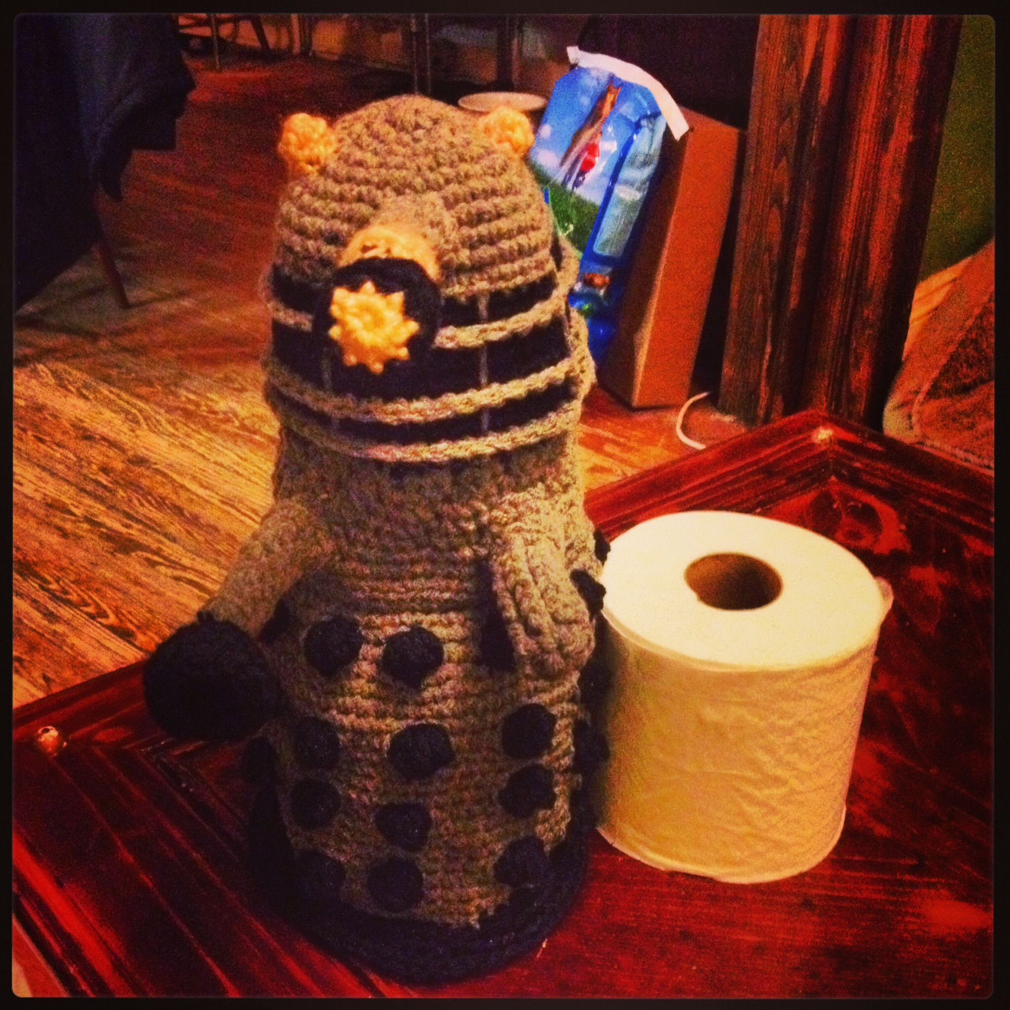 Dalek toilet paper roll cover | Completed projects | Pinterest ...