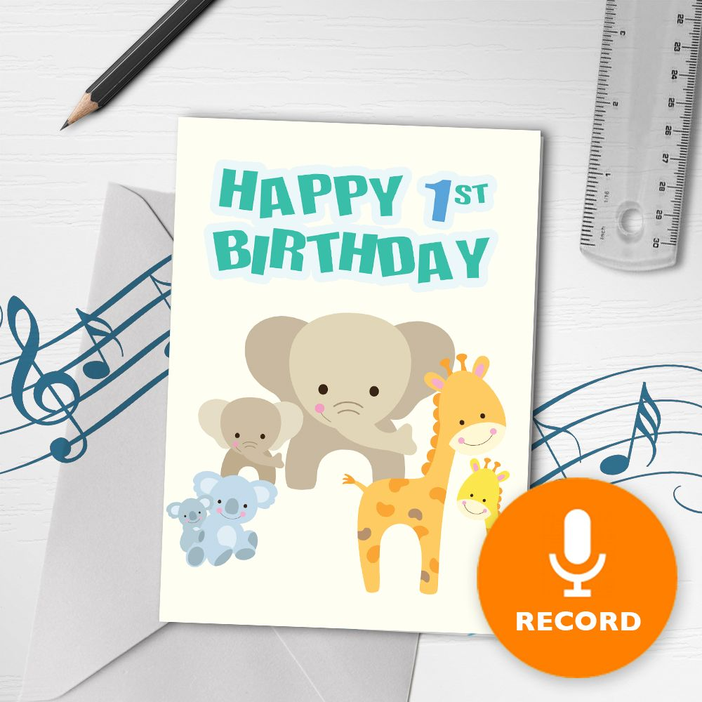 Happy st birthday musical greeting card in musical birthday