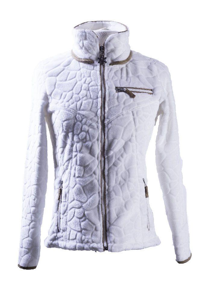 veste polaire femme Innsbruck blanc très sympa et pas chère