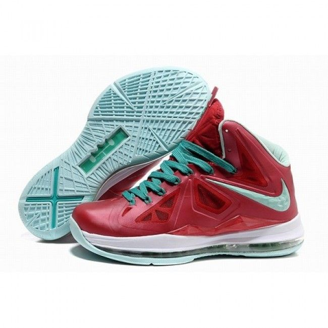 8c01bd92e942 Authentic Nike Lebron X 10 Varsity Red Fresh Green-White Shoes store sell  the cheap Nike Lebron online