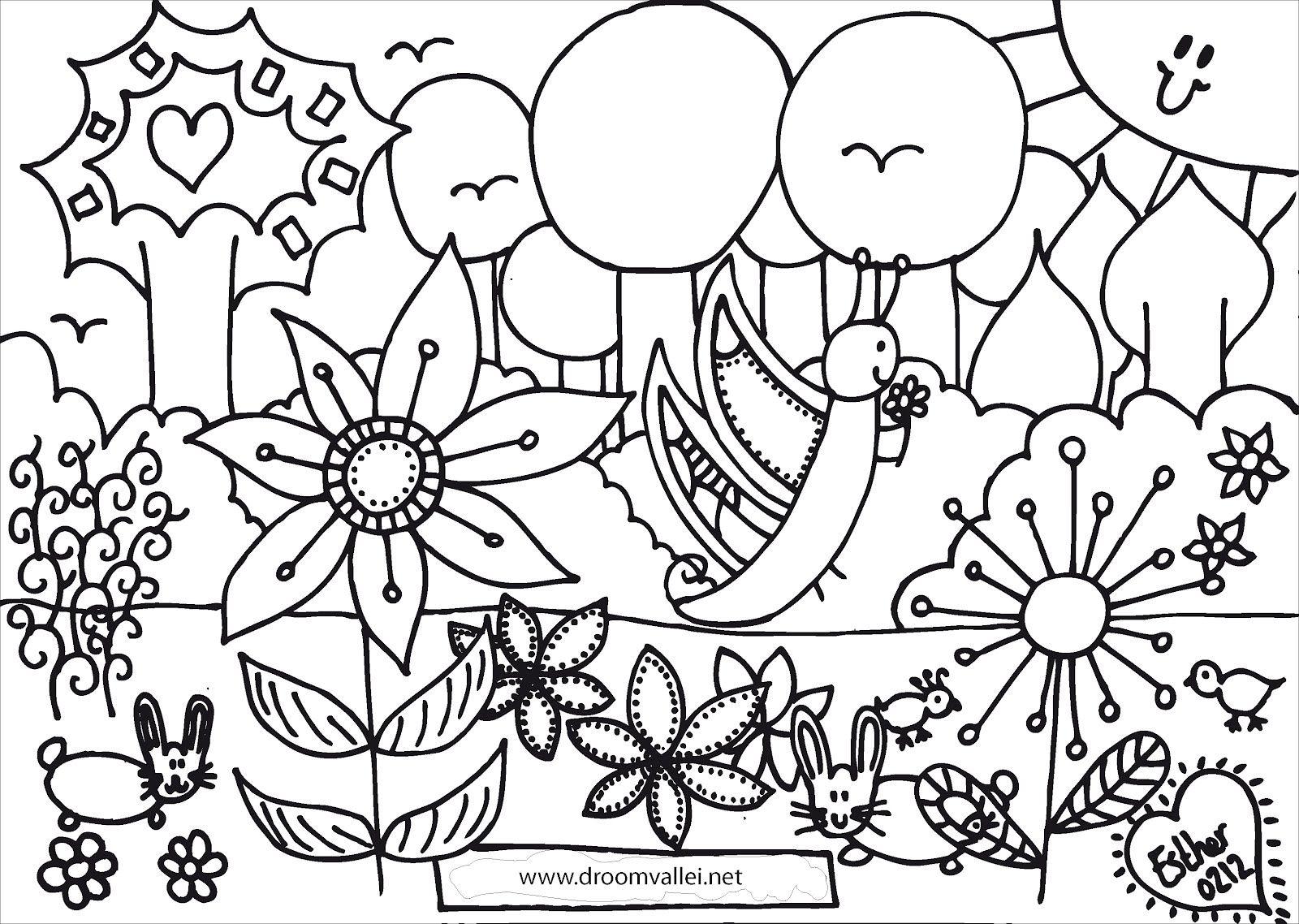 Kleurplaat2bvlinder Jpg Jpeg Afbeelding 1600 1138 Pixels Kleurplaten Bloem Kleurplaten Kleurplaten Voor Kinderen