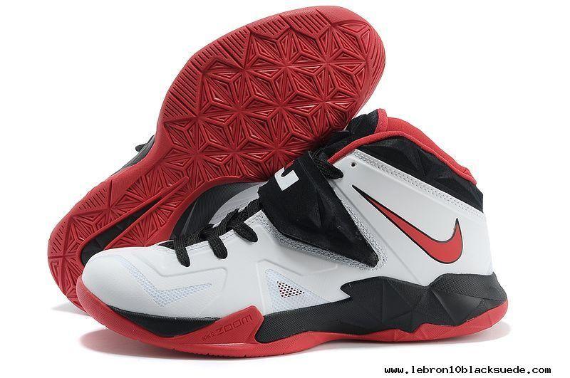 White Black Red Nike Lebron Zoom Soldier VII