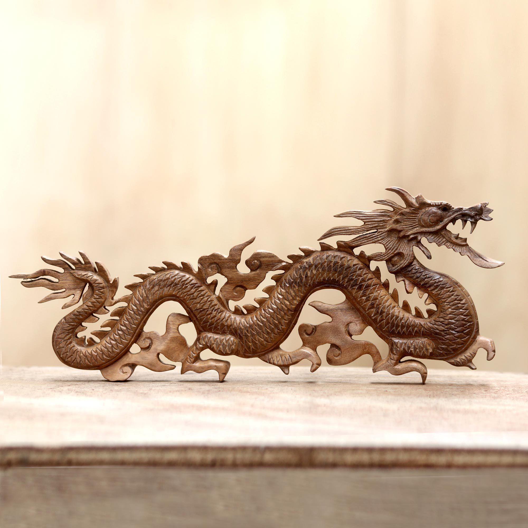 Novica baru klinthing dragon traditional artisan handmade hand