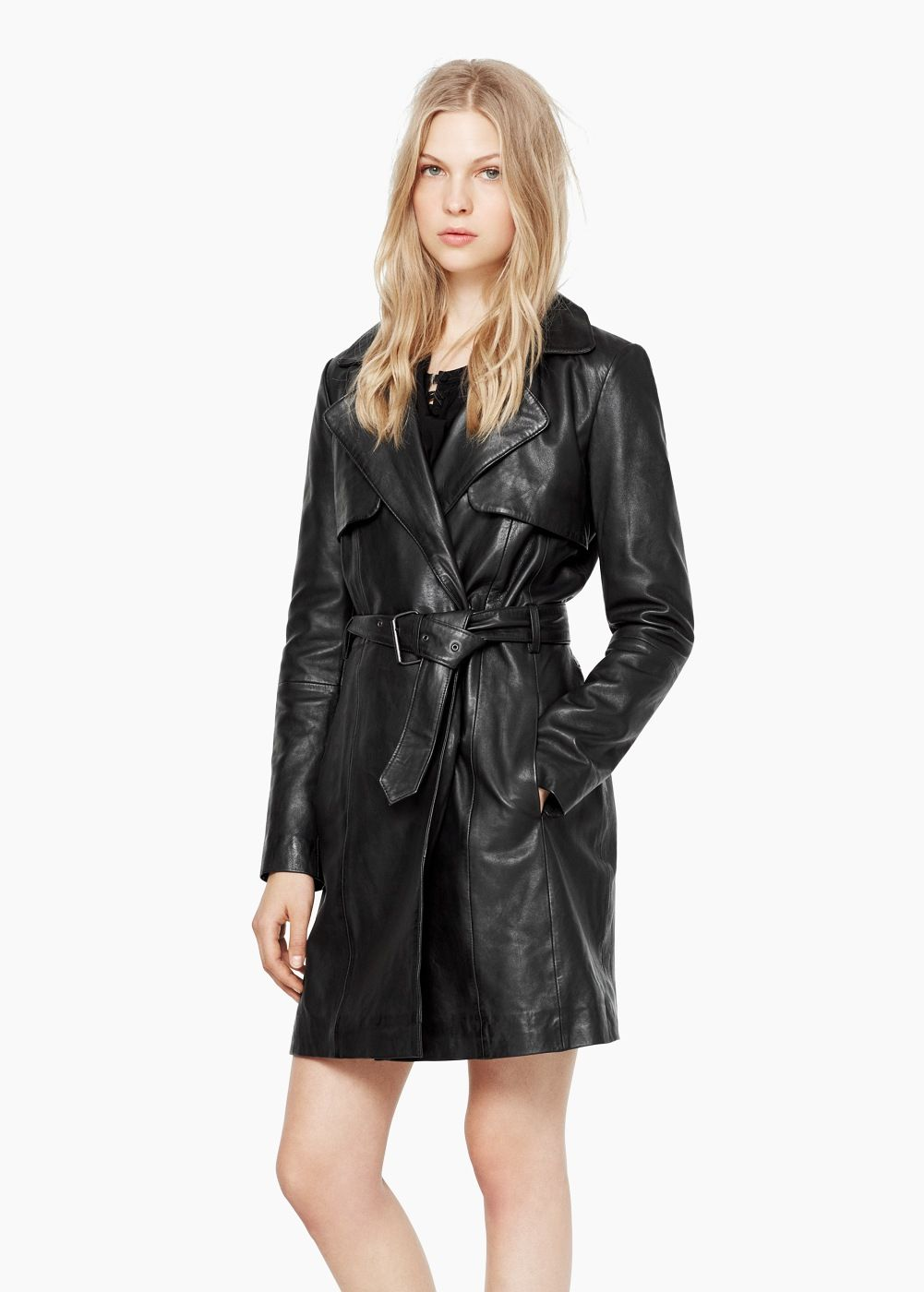 Leather trench - Coats for Women  fe5bb4fdf