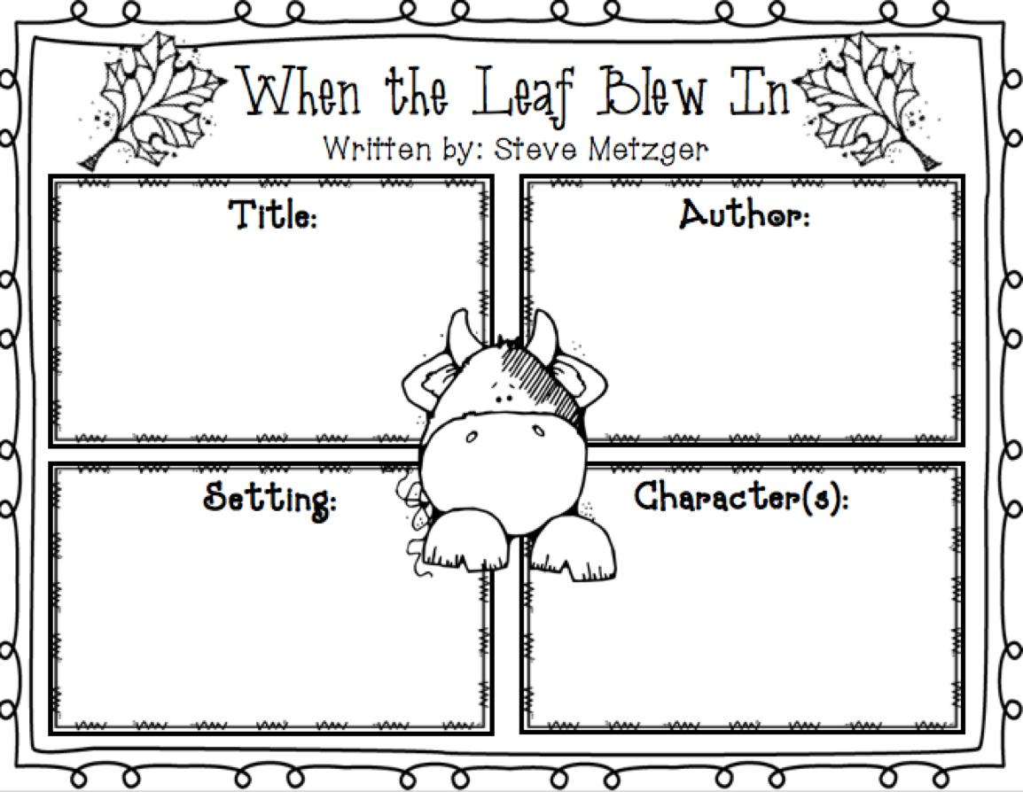 When The Leaf Blew In Literature Unit