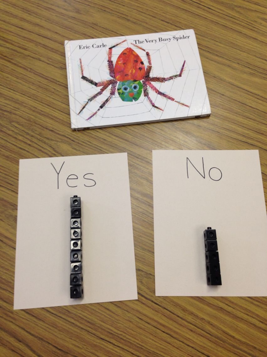 After reading Eric Carle's The Very Busy Spider, we asked