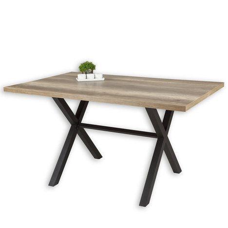 Schau mal, was ich bei ROLLER gefunden habe: Tisch – Wildeiche-anthrazit – 140×90 cm