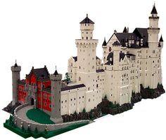 Schloss Neuschwanstein By Bob Carney Lego Castle Lego Lego House