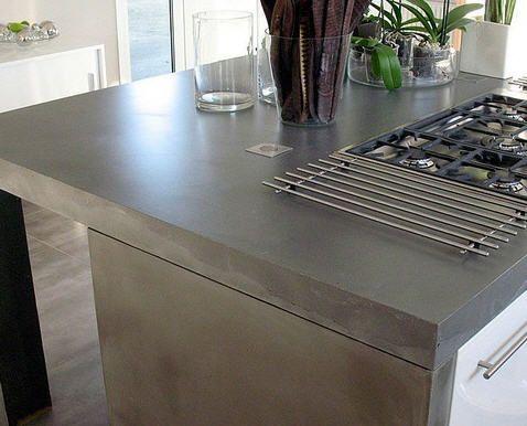 Cemento pulido cocina pinterest cemento pulido - Encimeras de cemento ...
