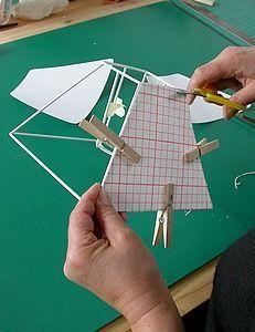 faire soi m me son abat jour carcasse et habillage bricolage diy light and origami. Black Bedroom Furniture Sets. Home Design Ideas