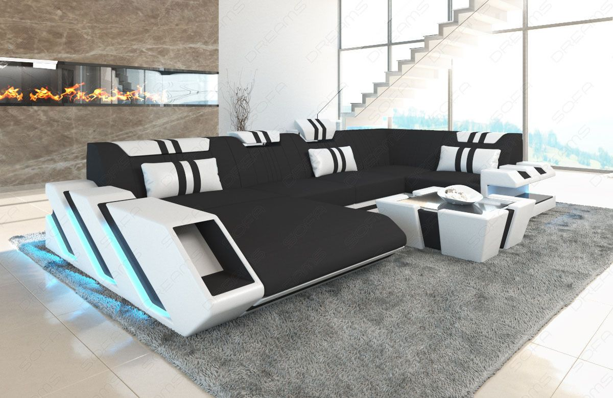 Sofa Sectional Fabric Apollonia C Shape Corner Couch Living Room Led Lighting Couches Living Room Sofa Design Couch Design