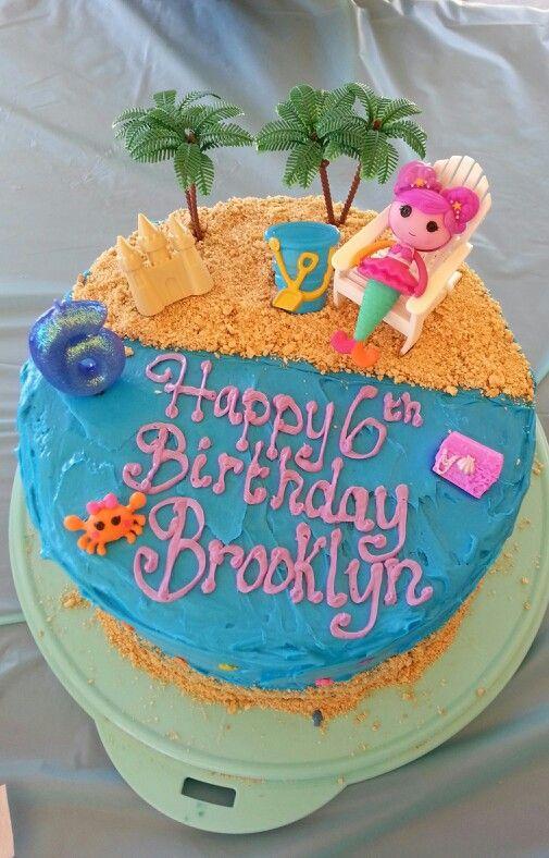 Mermaid Lalaloopsy Cake 4 Layers Of Cake Bright Blue