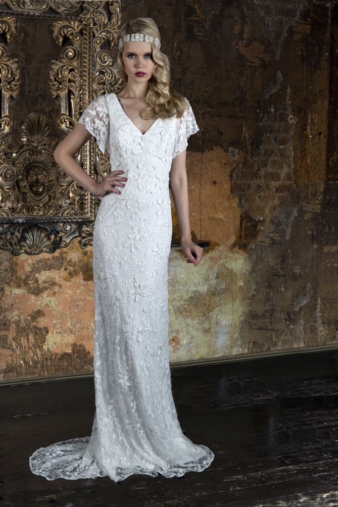Beautiful Art Deco Inspired Beaded Bridal Gowns Available At
