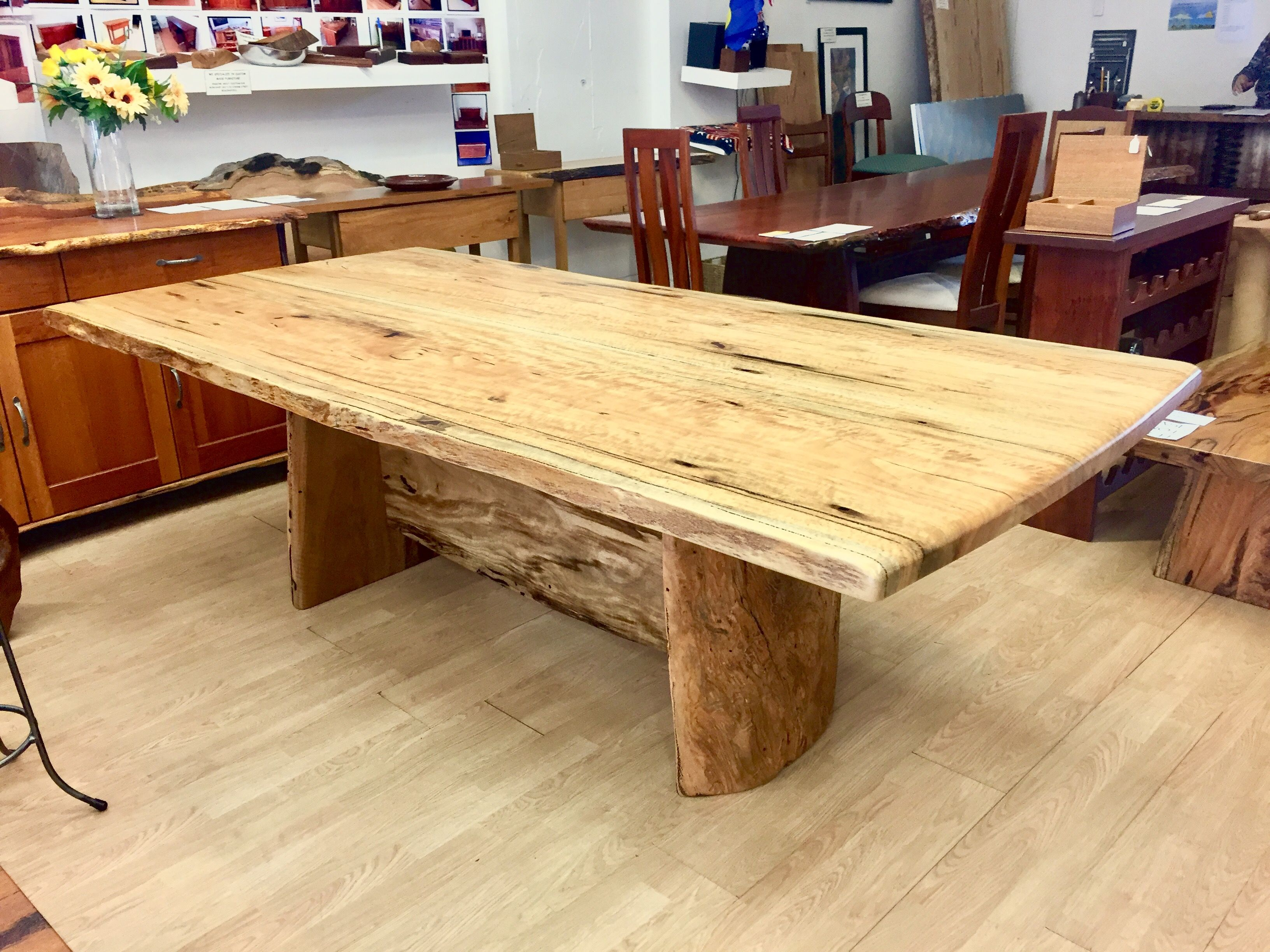 Curly Marri Dining Table 2 4 X 1 2 Wide Dining Table Dining Rustic Dining [ 2448 x 3264 Pixel ]